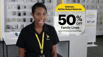 Sprint Unlimited Military Plan TV Spot, 'Saluting Our Military' - Thumbnail 3