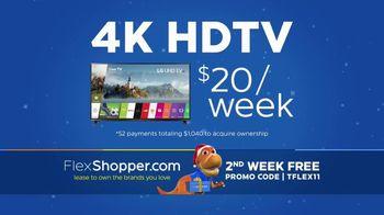 FlexShopper TV Spot, 'Holidays: 4K HDTV and Tablet'