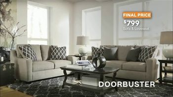 Ashley HomeStore Stars & Stripes TV Spot, 'Doorbusters: Sofa and Loveseat' - Thumbnail 5