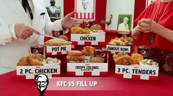 KFC $5 Fill Ups TV Spot, 'Stunning Variety: Crispy Colonel Sandwich' - Thumbnail 6