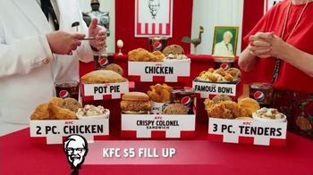KFC $5 Fill Ups TV Spot, 'Stunning Variety: Crispy Colonel Sandwich' - Thumbnail 7