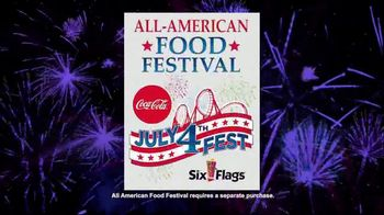 Six Flags July 4th Fest TV Spot, 'All-American Food Festival: Food & Games'