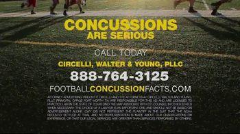 Circelli, Walter & Young, PLLC TV Spot, 'Football Concussions' - Thumbnail 7