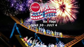 Six Flags July 4th Fest TV Spot, 'All-American Food Festival'