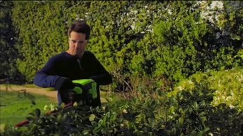 GreenWorks Pro 60-Volt 24-Inch Hedge Trimmer TV Spot, 'Beyond the Ordinary' - Thumbnail 4
