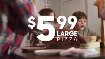 Pizza Hut $5.99 Large 2-Topping Pizza TV Spot, 'Think Fast'