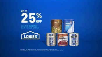 Lowe's TV Spot, 'The Moment: Any Color: Olympic Paints' - Thumbnail 7