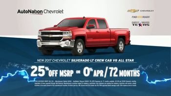 AutoNation 72 Hour Flash Sale TV Spot, '2017 Silverado: Tire Rebate'