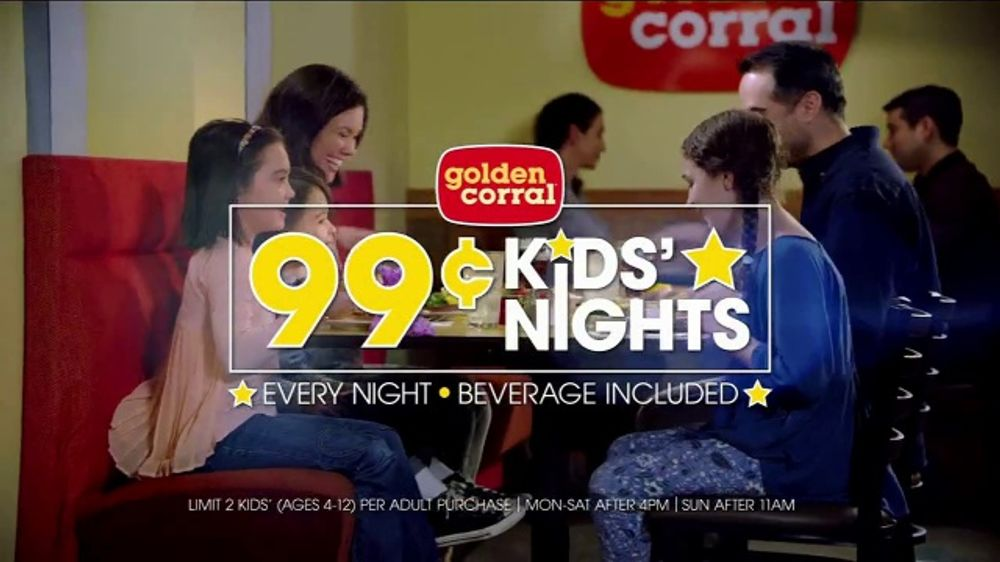 Golden Corral 99 Cent Kids Nights Tv Commercial Every Night