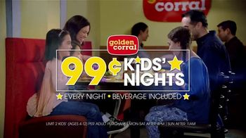 Golden Corral 99-Cent Kids\' Nights TV Spot, \'Every Night\'