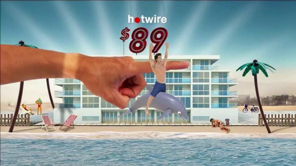 Hotwire TV Commercial, 'The Hotwire Effect: Beach'