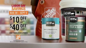 BEHR Paint Labor Day Savings TV Spot, 'Just One' - Thumbnail 10
