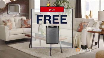 Ashley HomeStore Labor Day Sale TV Spot, 'Free Sonos Bluetooth Speaker' Song By Midnight Riot - Thumbnail 7