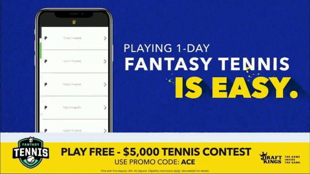 DraftKings Fantasy Tennis TV Commercial, '2018 Fantasy Tennis Contest' -  Video
