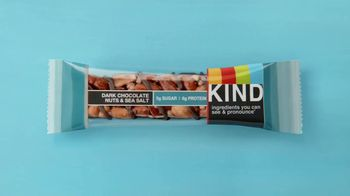 KIND Dark Chocolate Nuts & Sea Salt TV Spot, 'Give KIND a Try!' - Thumbnail 1