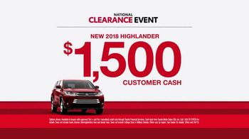 Toyota National Clearance Event TV Spot, 'So Excited' [T2] - Thumbnail 7