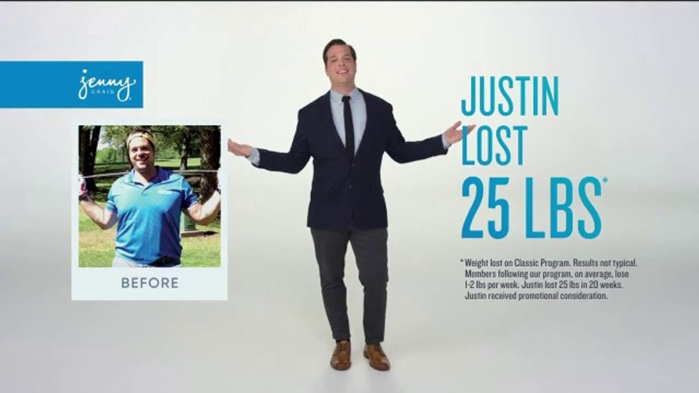 Jenny Craig Rapid Results TV Commercial, 'Justin: $120 in Free Food'