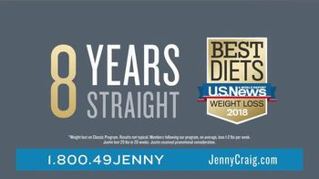 Jenny Craig Rapid Results TV Spot, 'Justin: $120 in Free Food' - Thumbnail 2