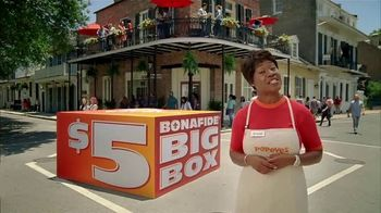 Popeyes $5 Bonafide Big Box TV Spot, 'This Is a Meal' - 12451 commercial airings