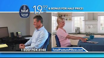 Total Posture Pillow TV Spot, 'Relieve Pressure' - Thumbnail 10