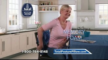 Total Posture Pillow TV Spot, 'Relieve Pressure' - Thumbnail 2