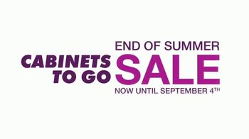 Cabinets To Go End of Summer Sale TV Spot, 'Kitchen Experts' - Thumbnail 7