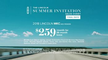 Lincoln Summer Invitation Sales Event TV Spot, 'New Mix' [T2] - Thumbnail 8