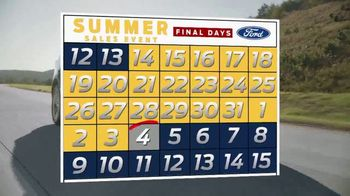 Ford Summer Sales Event TV Spot, 'Your Time to Save Is Running Out' [T2] - Thumbnail 8