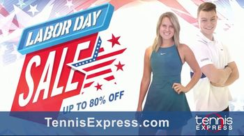 Tennis Express Labor Day Sale TV Spot, 'Shoes, Apparel and Racquets' - Thumbnail 1