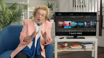 Sling TV Spot, 'Seven Night Stand' Featuring Dr. Ruth
