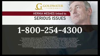 Goldwater Law Firm TV Spot, 'Hernia Mesh Warning' - Thumbnail 7