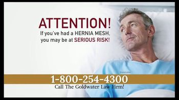 Goldwater Law Firm TV Spot, 'Hernia Mesh Warning' - Thumbnail 2