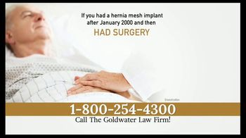 Goldwater Law Firm TV Spot, 'Hernia Mesh Warning' - Thumbnail 3