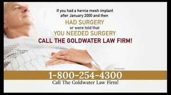 Goldwater Law Firm TV Spot, 'Hernia Mesh Warning' - Thumbnail 4