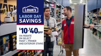 Lowe's Labor Day Savings TV Spot, 'Game-Changer: Paint, Primer and Stains' - Thumbnail 9
