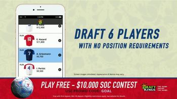 DraftKings 1-Day Fantasy Soccer TV Spot, '$10,000 Contest' - Thumbnail 6