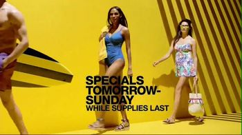 Macy's Black Friday in July TV Spot, 'Swimwear, Suits and Jewelry'