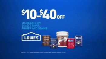 Lowe's TV Spot, 'The Moment: Any Color: Rebate' - Thumbnail 10