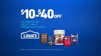 Lowe's TV Spot, 'The Moment: Any Color: Rebate' - Thumbnail 9