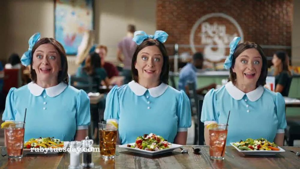 Ruby Tuesday 3 Course Meal Tv Commercial 39 Triplets 39 Featuring Rachel Dratch