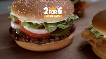 Burger King 2 for $6 Mix or Match TV Spot, 'Delicious' - Thumbnail 2