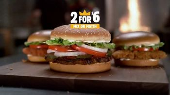 Burger King 2 for $6 Mix or Match TV Spot, 'Delicious'