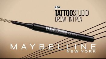 Maybelline Tattoo Studio Brow Tint Pen TV Spot, 'Multi-Prong Tip' - Thumbnail 3