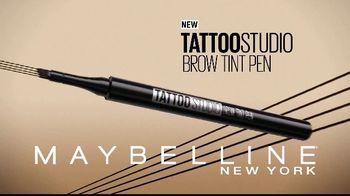 Maybelline Tattoo Studio Brow Tint Pen TV Spot, 'Multi-Prong Tip'