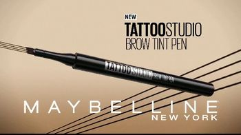 Maybelline Tattoo Studio Brow Tint Pen TV Spot, 'Multi-Prong Tip' - Thumbnail 9