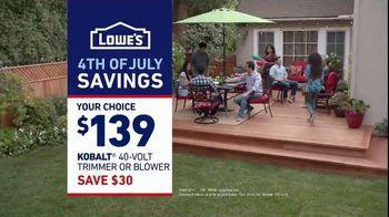 Lowe's 4th of July Savings TV Spot, 'Good Backyard: Trimmer or Blower' - Thumbnail 10