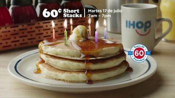 IHOP 60 Cent Short Stacks TV Spot, 'Feliz panqueues' [Spanish] - Thumbnail 6