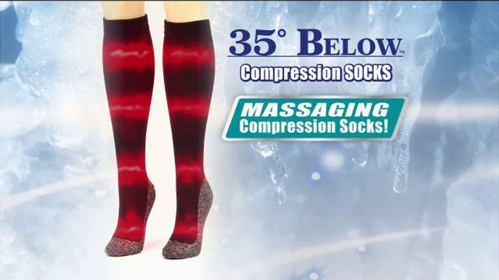 bc0aa6d5254cc 35 Degrees Below Compression Socks TV Commercial, 'Get Relief'. Apparel,  Footwear & Accessories ...