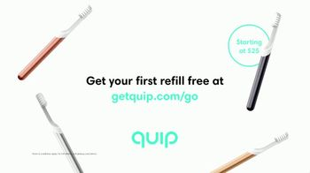 Quip Electric Toothbrush TV Spot, 'Makes Brushing a Breeze: Go' - Thumbnail 8