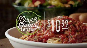 Olive Garden Never Ending Pasta Bowl TV Spot, '100 combinaciones' [Spanish]